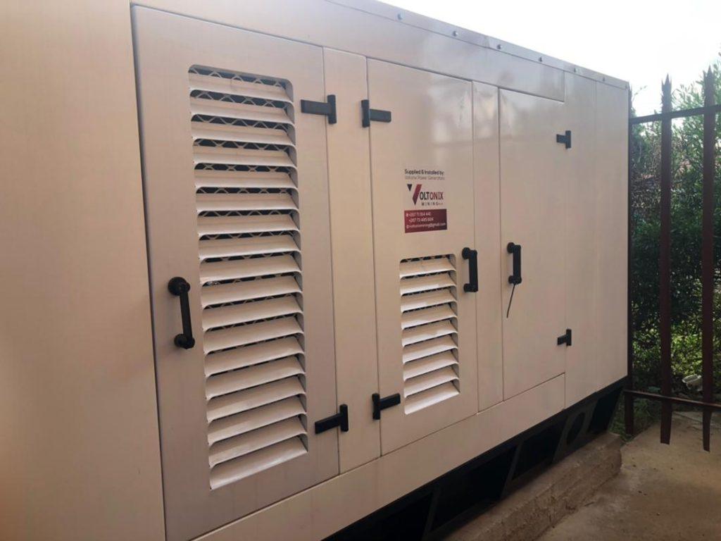 commercila diesel generator installed