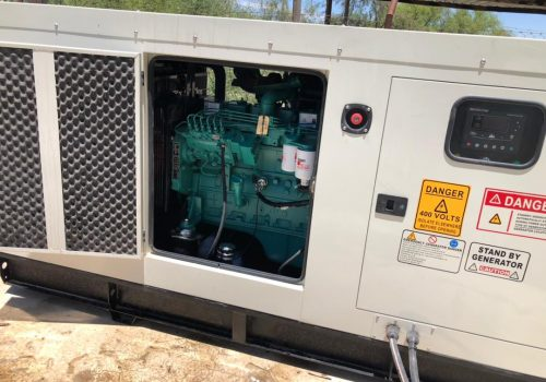 diesel generator with silent canopy